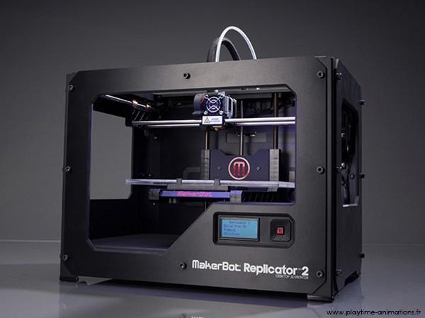 Animation autour de l 39 imprimante 3d pour l 39 v nementiel playtime animations - Imprimante 3d fonctionnement ...